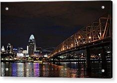 Downtown Cincinnati Acrylic Print by Tina Karle