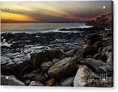 Dramatic Coastline Acrylic Print by Carlos Caetano