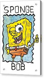 Draw A Sponge Acrylic Print