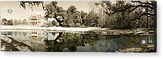 Drayton Hall Hand-colored Acrylic Print by Jan W Faul