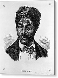 Dred Scott, African-american Hero Acrylic Print by Photo Researchers