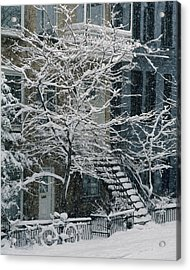 Drolet Street In Winter, Montreal Acrylic Print by Yves Marcoux