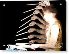Drummer Acrylic Print by Ted Kinsman