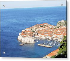 Acrylic Print featuring the drawing Dubrovnik Former Yugoslavia Croatia by Joseph Hendrix