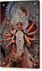 Durga Goddess 2012 Acrylic Print by Rajan Advani