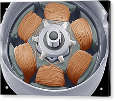 Dvd Drive Motor, Sem Acrylic Print by Steve Gschmeissner