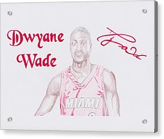 Dwyane Wade Acrylic Print by Toni Jaso
