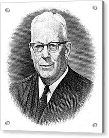 Earl Warren (1891-1974) Acrylic Print by Granger