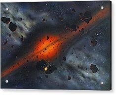 Early Solar System, Artwork Acrylic Print by Richard Bizley