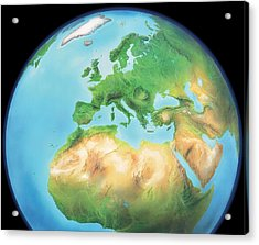 Earth, Artwork Acrylic Print by Gary Hincks