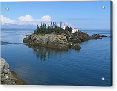 East Quoddy Lighthouse Acrylic Print by Bob Davis