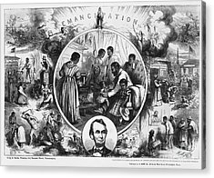 Effects Of Emancipation Proclamation Acrylic Print by Photo Researchers