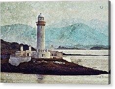 Eilean Musdile Lighthouse  Acrylic Print by Ray Devlin