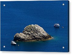 Acrylic Print featuring the photograph Elba Island - One Island Two Boats - Ph Enrico Pelos by Enrico Pelos