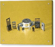 Electronic Circuit Board Components Acrylic Print by Andrew Lambert Photography