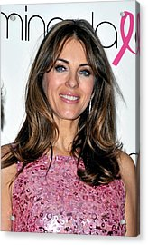 Elizabeth Hurley At A Public Appearance Acrylic Print by Everett