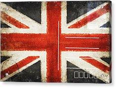 England Flag Postcard Acrylic Print by Setsiri Silapasuwanchai