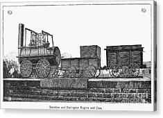 English Locomotive, 1825 Acrylic Print by Granger