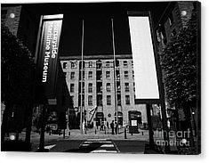 Entrance To The Albert Dock And Beatles Museum Liverpool Merseyside England Uk Acrylic Print by Joe Fox