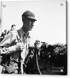 Ernie Pyle (1900-1945). American Journalist. Photograph, C1942 Acrylic Print by Granger