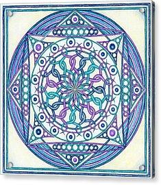Eternity Mandala Acrylic Print