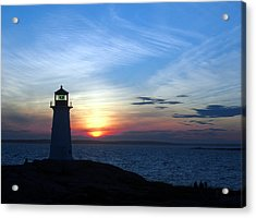 Evening At Peggy's Cove Acrylic Print by George Cousins