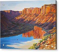 Evening Float Bowknot Bend Acrylic Print