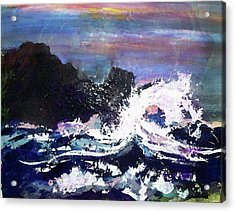 Evening Wave Acrylic Print by Valerie Wolf