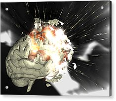 Exploding Brain Acrylic Print by Christian Darkin