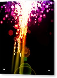 Explosion Of Lights Acrylic Print by Setsiri Silapasuwanchai