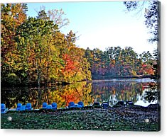 Fall At The Lake Acrylic Print by Larry Bishop