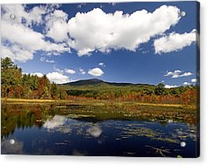 Fall Day At Perkins Pond Acrylic Print by Gordon Ripley