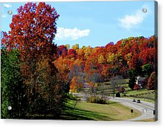 Fall Drive In Tennessee Acrylic Print