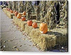 Fall  Halloween On Tillson Street Acrylic Print by LeeAnn McLaneGoetz McLaneGoetzStudioLLCcom