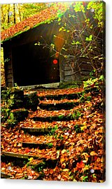 fall time in Ithaca New York.  Acrylic Print
