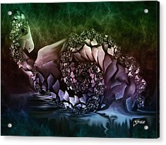 Fantasy Bird Acrylic Print by Julie Grace