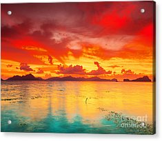 Fantasy Sunset Acrylic Print by MotHaiBaPhoto Prints