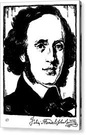 Felix Mendelssohn Acrylic Print by Granger