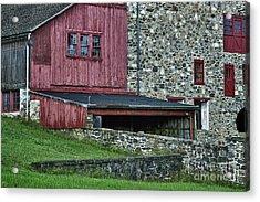 Field Stone Barn Acrylic Print by John Greim