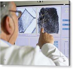 Fingerprint Analysis Acrylic Print by Mauro Fermariello