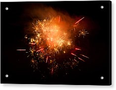Firework Display At New Year's Eve Acrylic Print by Olaf Broders