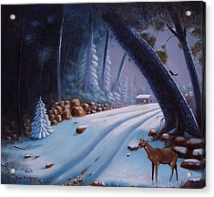 First Snow  Acrylic Print by Gene Gregory
