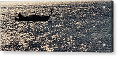 Fisherman Acrylic Print by Stelios Kleanthous