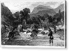 Fishing, 19th Century Acrylic Print by Granger