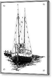 Fishing Boat Acrylic Print by Kelly Morgan