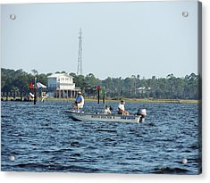 Fishing The Flats Acrylic Print by Marilyn Holkham