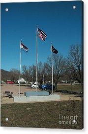 Flags With Blue Sky Acrylic Print