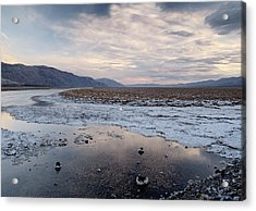 Flooded Salt Flat Acrylic Print by Bob Gibbons