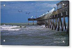 Acrylic Print featuring the photograph Florida Fishing Pier by Gina Cormier