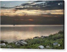 Florida Sunset Acrylic Print by Cheryl Davis